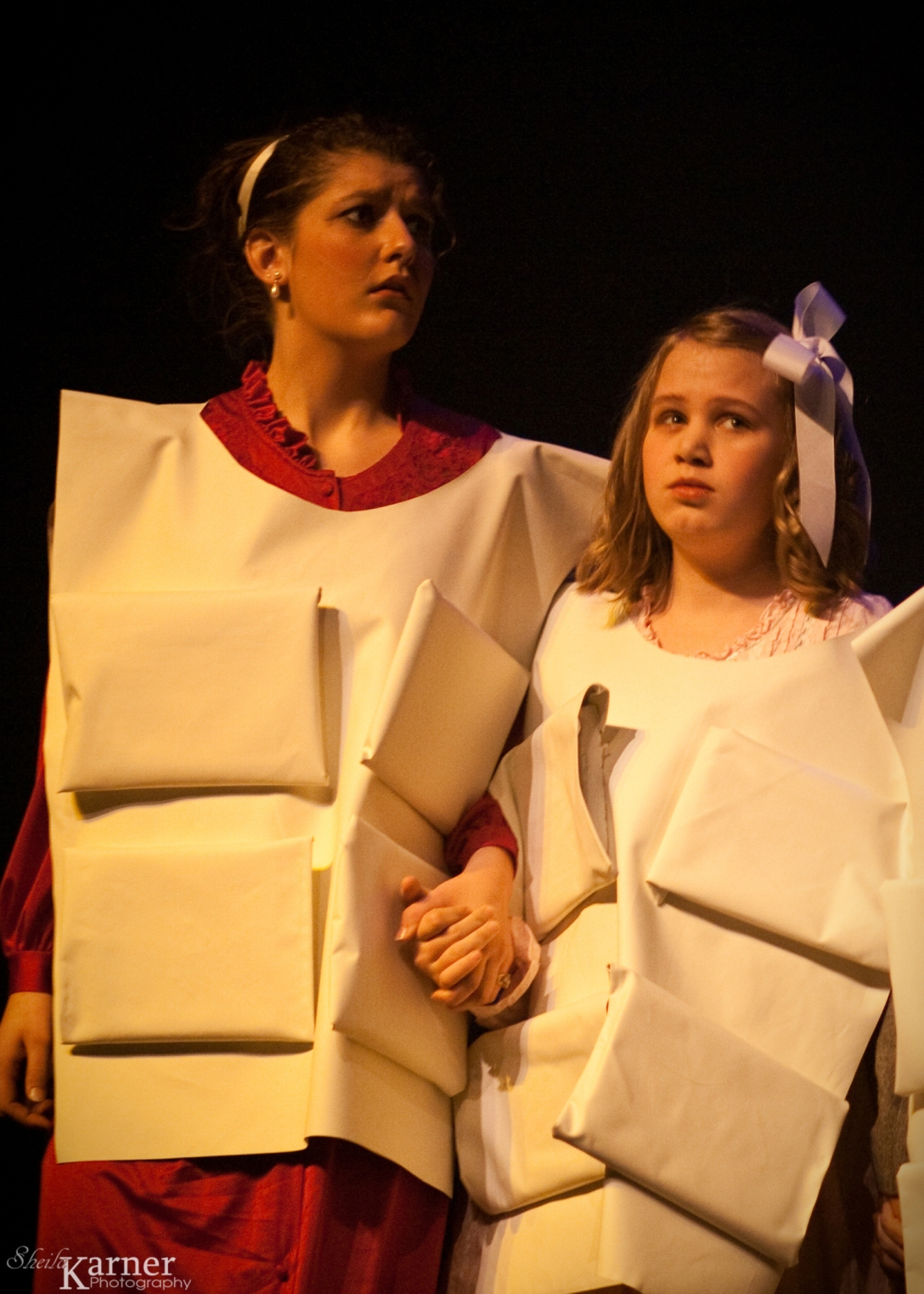My daughter, Ali, on the right with her stage mom.