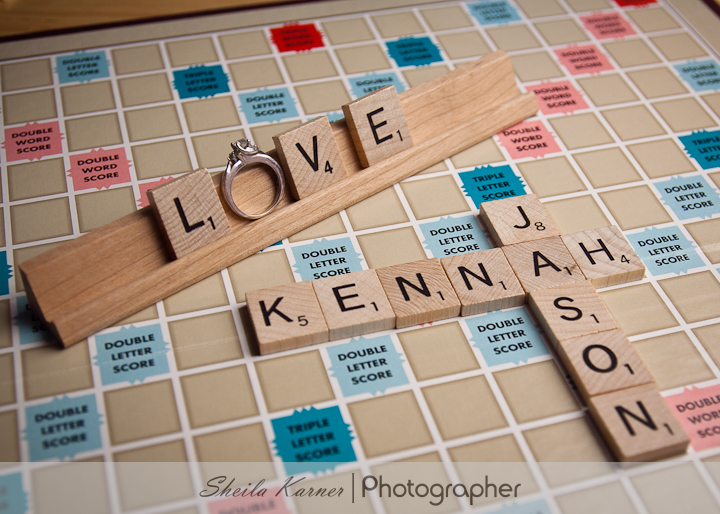 Scrabble Engagement Photo