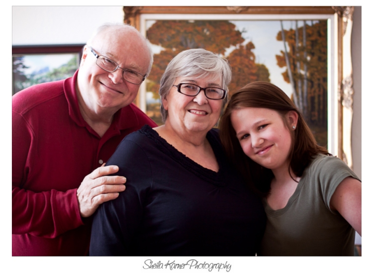 Grandparents with Granddaughter | Denver Portrait Photographer