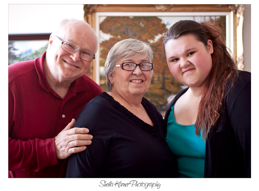 Grandparents with Granddaughter | Denver Portrait Photographer