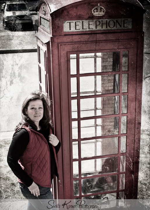 Steph and the Red Phone Booth | Denver Portrait Photographer