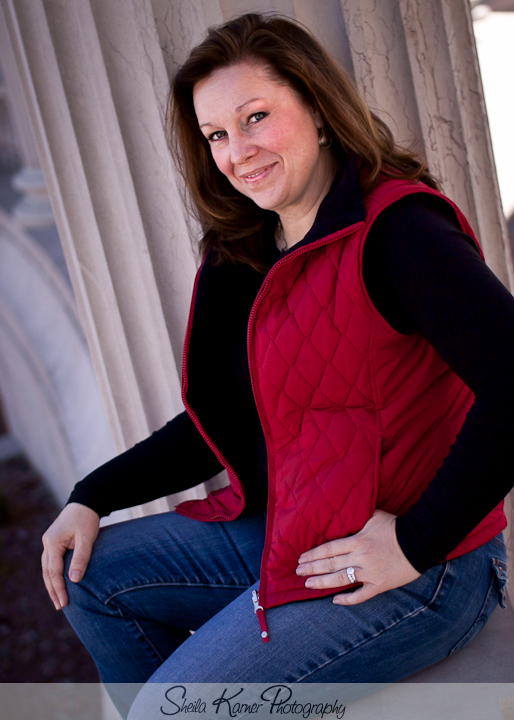 Steph at the Greek Amphitheater in Civic Center Park | Denver Portrait Photographer