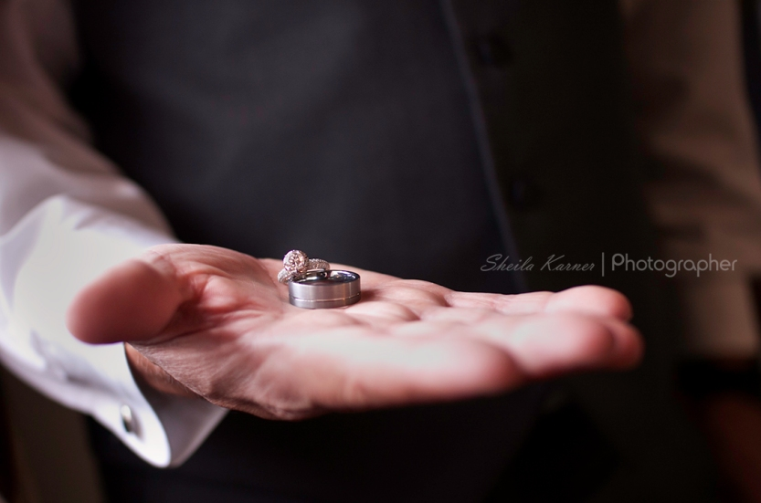 Wedding Rings in Groom's Hand