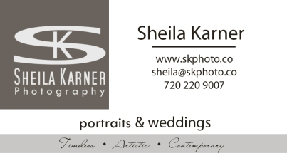 Sheila Karner Photography Business Card