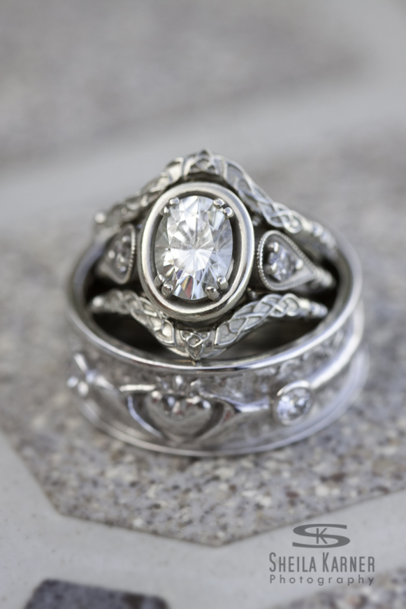 Wedding rings shot in Aurora photographed by Aurora Colorado wedding photographer, Sheila Karner Photography.
