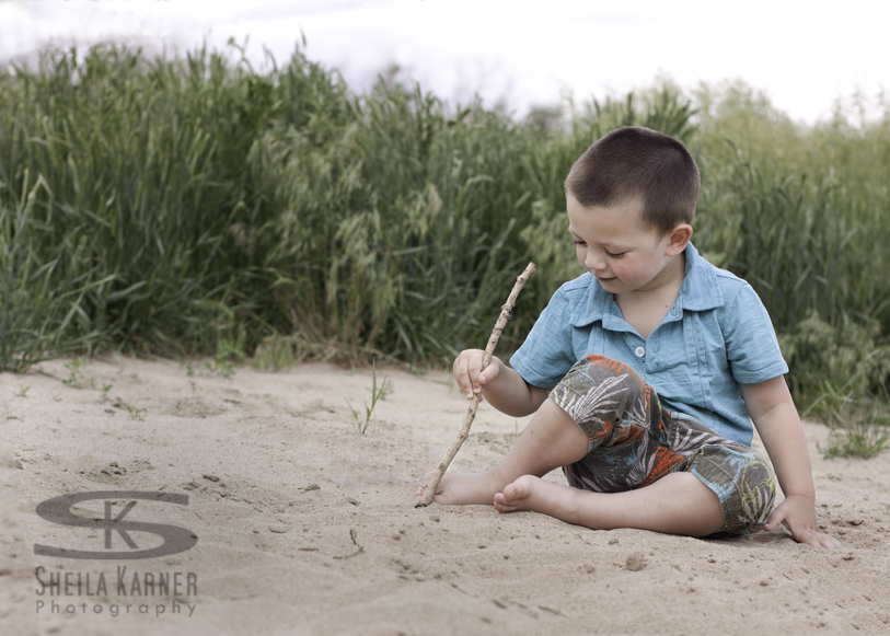 ABCs in the sand