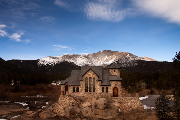 Chapel on the Rock in Allenspark, Colorado; photographed by Colorado landscape photographer, Sheila Karner Photography.
