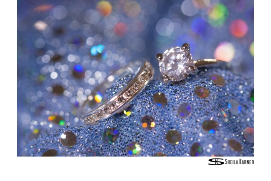 Blue Sparkle | Ring Shot | Sheila Karner Photography