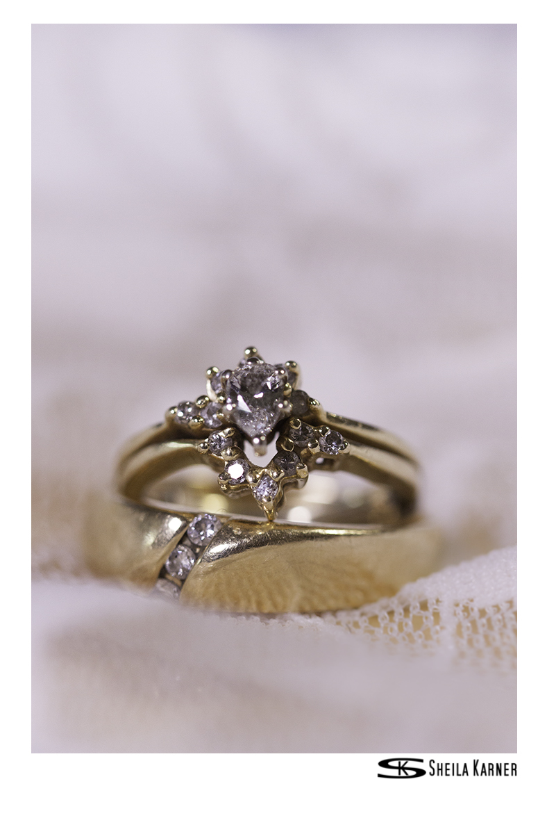 White Lace | Ring Shot | Sheila Karner Photography