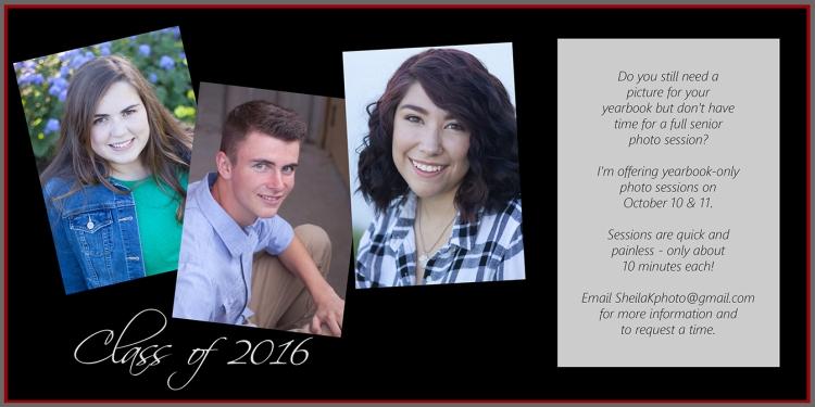 Senior Yearbook Photos Class of 2016