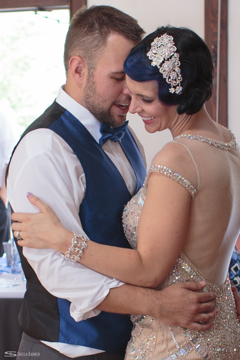 Louviers Village Clubhouse wedding. Sheila Karner Photography. First dance.
