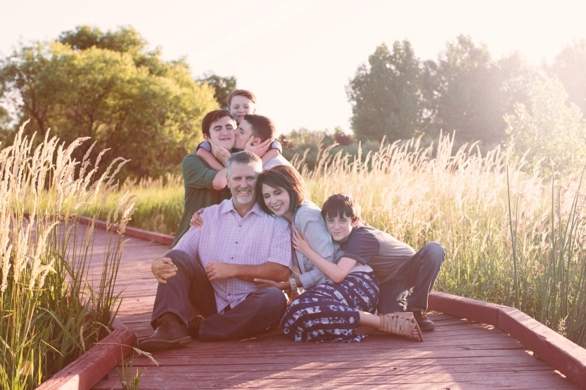 Sheila Karner Photography - family portrait in natural light - fun, lighthearted, real