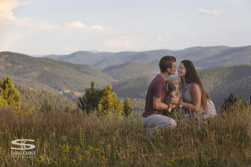 Mount Falcon engagement photos - Morrison, Colorado